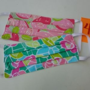 Face masks casual use Lilly like fabric 2pc